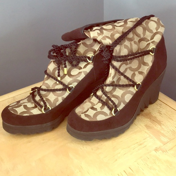 Coach Shoes - Coach wedge boots